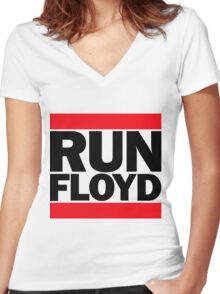 RUN FLOYD - RUN DMC Pacquiao by AiReal Apparel Women's Fitted V-Neck T-Shirt