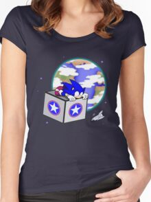 Hedgehogs in Space Women's Fitted Scoop T-Shirt