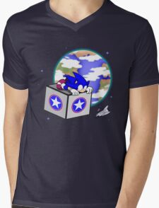 Hedgehogs in Space Mens V-Neck T-Shirt