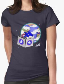 Hedgehogs in Space Womens Fitted T-Shirt
