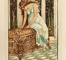 A Wonder Book for Girls and Boys by Nathaniel Hawthorne illustrated by Walter Crane 123 - Pandora Desires to Open the Box by wetdryvac