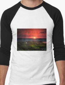 Seagull on Sunset - Sorrento - Mornington Peninsula Men's Baseball ¾ T-Shirt