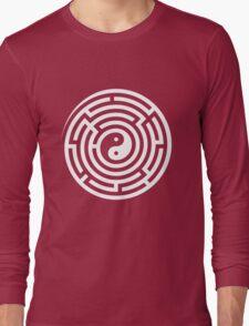 Finding Balance (White on Black/Colour) Long Sleeve T-Shirt