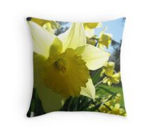 Daffodils Throw Pillow