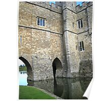 Castle and Moat Poster