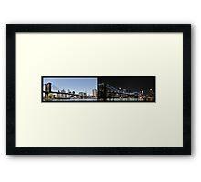 Brooklyn Bridge by Day and Night Framed Print