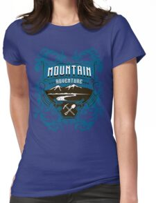 Mountain Adventure Womens Fitted T-Shirt