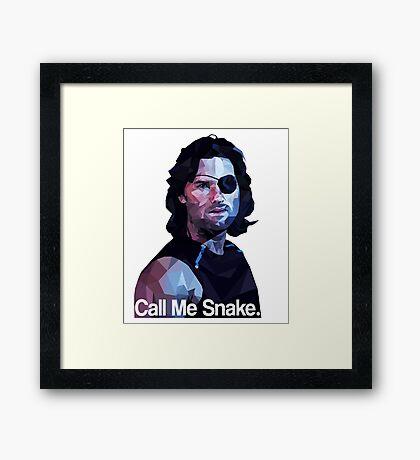 Call me snake. Framed Print