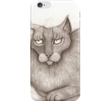 Grey Annoyed Cat iPhone Case/Skin