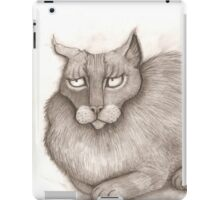 Grey Annoyed Cat iPad Case/Skin