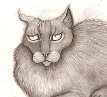 Grey Annoyed Cat by pathumph