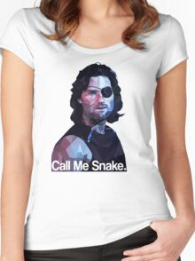 Call me snake. Women's Fitted Scoop T-Shirt