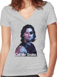 Call me snake. Women's Fitted V-Neck T-Shirt