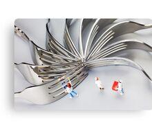 Chef And Forks Metal Print