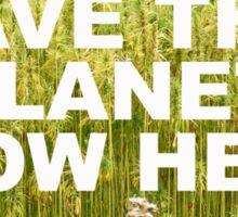 Save the planet grow hemp Sticker