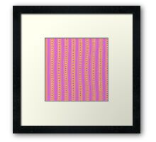 Freehand stripes in pink and orange Framed Print