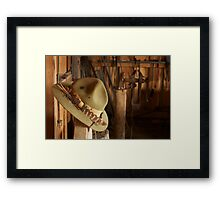 The Blacksmith's Hat - L.W. Paul Living Farm Conway, SC, USA Framed Print