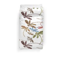 Dragonfly Frenzy Rainbow Duvet Cover