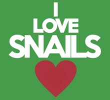 I love snails by onebaretree