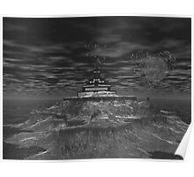 Black & White Ahbealone Illusions2 Poster