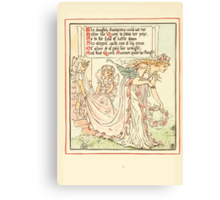 Queen Summer, or, The Tourney of the Lilly and the Rose by Walter Crane 1891 30 - The doughty champions could not rise Canvas Print