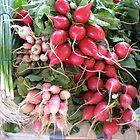 Radishes at Ann Arbor Farmers' Market by Roger Wheaton