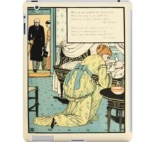 The Buckle My Shoe Picture Book by Walter Crane 1910 65 - Who Sat and Washed My Newborn Head iPad Case/Skin