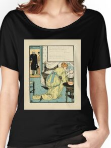The Buckle My Shoe Picture Book by Walter Crane 1910 65 - Who Sat and Washed My Newborn Head Women's Relaxed Fit T-Shirt