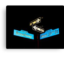Broadway & West 33rd Canvas Print