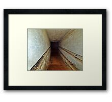 A Tunnel in an Abandoned Nazi Bunker Framed Print