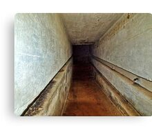 A Tunnel in an Abandoned Nazi Bunker Canvas Print