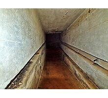 A Tunnel in an Abandoned Nazi Bunker Photographic Print