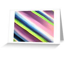 Purple Blue Green Diagonal Stripes Design Greeting Card