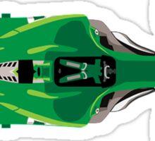 Green Racing Car Sticker