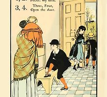 The Buckle My Shoe Picture Book by Walter Crane 1910 16 - One Two Buckle my Shoe Three Four Open The Door by wetdryvac