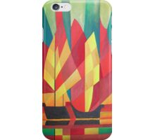 Happy Father's Day Cubist Abstract of Junk Sails and Ocean Skies iPhone Case/Skin