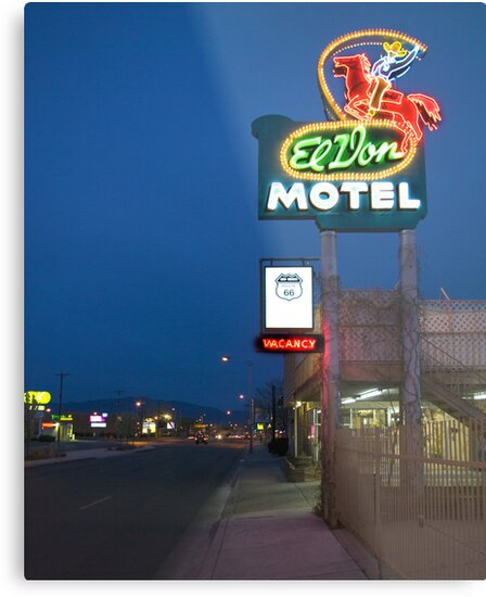 Route 66 and the El Don Motel, Albuquerque by Mitchell Tillison