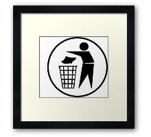 Recycle / Rubbish Icon Framed Print