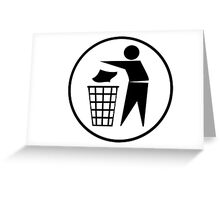 Recycle / Rubbish Icon Greeting Card