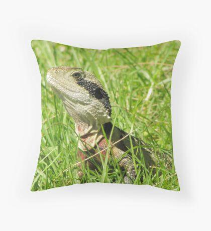 Eastern Water Dragon Throw Pillow