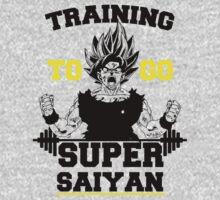 TRAINING TO GO SUPER SAIYAN (BOLD EDITION) T-Shirt
