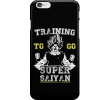TRAINING TO GO SUPER SAIYAN (WHITE) iPhone Case/Skin