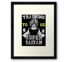TRAINING TO GO SUPER SAIYAN (WHITE) Framed Print