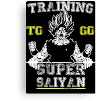 TRAINING TO GO SUPER SAIYAN (WHITE) Canvas Print