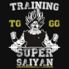 TRAINING TO GO SUPER SAIYAN (WHITE) by GALAXE