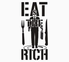 EAT THE RICH - on Light by riotgear