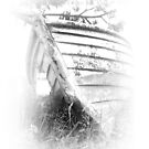 Derelict dinghy by Lynne Haselden