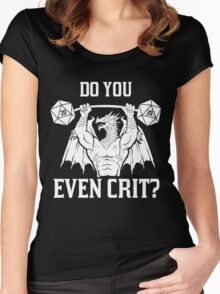 Ancient Swole'd Dragon - Do You Even Crit? Women's Fitted Scoop T-Shirt