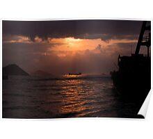 Sunset in HK Poster