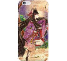 Dangerous fight yokai kitsune wolf iPhone Case/Skin